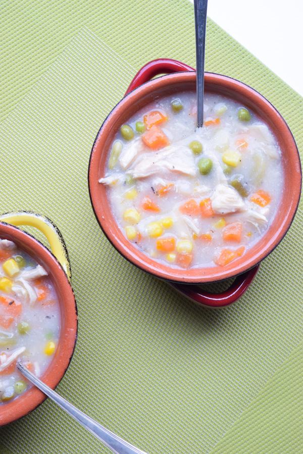 crockpot chicken pot pie soup
