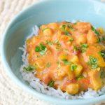 crockpot chicken veggie curry