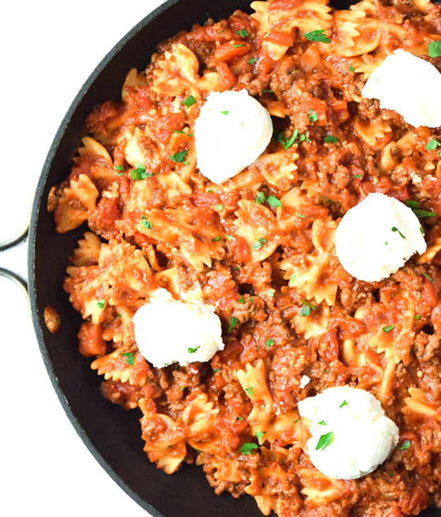 easy skillet lasagna recipe