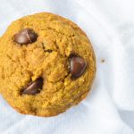 healthy pumpkin oatmeal chocolate chip muffins