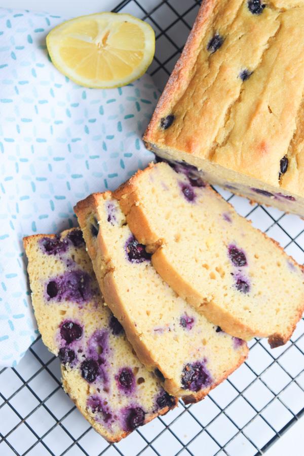 healthy lemon bluberry bread