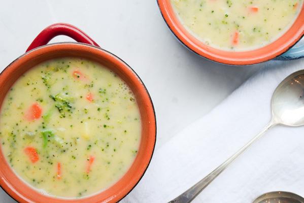 lowfat broccoli cheese soup