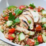 mediterranean farro salad