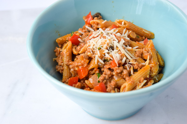 Turkey Paprikash Skillet - a one pan meal, so simple and delicious. You will love the flavors in this dish! | tastythin.com