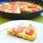 BLT Frittata - Bacon, Leeks, and Tomatoes. So simple to whip up for ANY meal of the day! A healthy option full of flavor! | tastythin.com