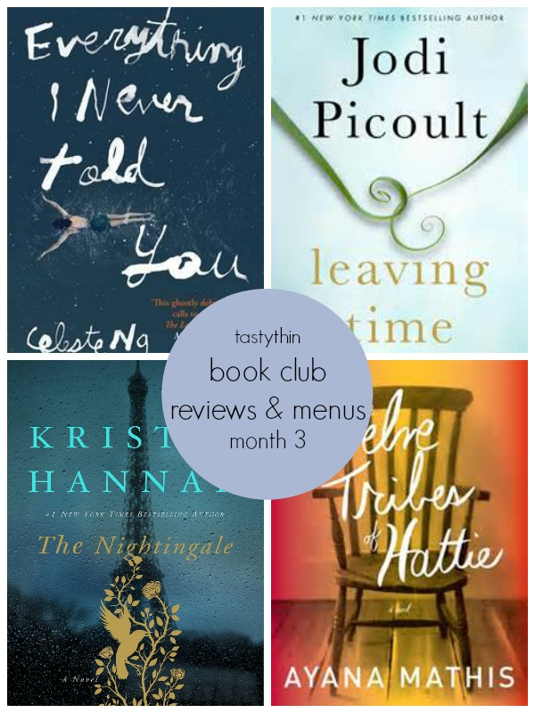 Book Club Reviews & Menus (Month 3) - Monthly book club selections with reviews and menu suggestions for your Book Club! | tastythin.com