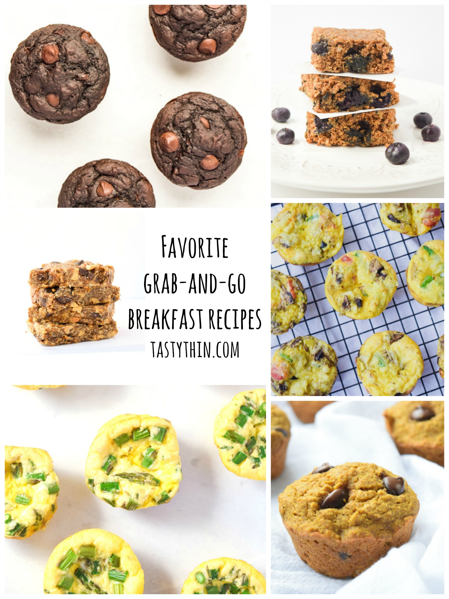 Healthy Family Meal Prep - Favorite Grab and Go Breakfast Recipes that are nutritious, family friendly, and super tasty! | tastythin.com