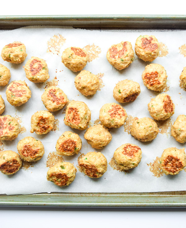 Keto Chicken Parmesan Meatballs