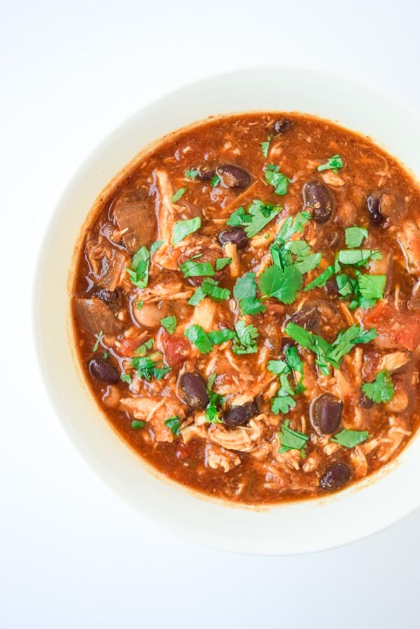 Crockpot Chicken Enchilada Chili Tastythin