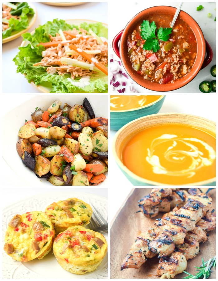 Sample Whole 30 Menu - a weekly sample menu for Whole 30 program followers or those wishing to kick start a clean eating lifestyle! | tastythin.com
