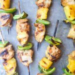 Hawaiian Chicken Kabobs (Paleo) - flavorful, fun, and simple grilled chicken kabobs. This tasty and nutritious meal is a winner! | tastythin.com
