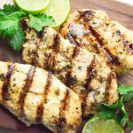 Cilantro Lime Chicken (Whole30 Paleo) - a simple 5 ingredient marinade, full of flavor and easy to make.  Great for freezing as well! | tastythin.com