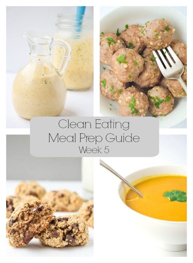Clean Eating Meal Prep Guide (Week 5) - Weekly Meal Prep tips featuring clean, whole food recipes.  Always simple and always family friendly! | tastythin.com