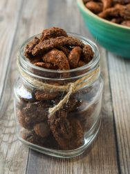candied paleo nuts in a jar