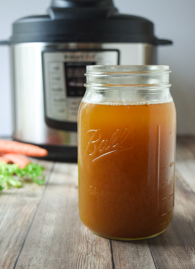 How to Make Vegetable Broth in the Instant Pot (from scraps!) - save your veggie scraps and make this delicious and healthy stock in the Instant Pot!  So simple, fast, and nutritious!