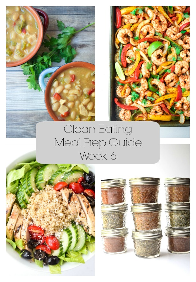 Clean Eating Meal Prep Guide (Week 6) - Weekly Meal Prep tips featuring clean, whole food recipes.  Always simple and always family friendly! | tastythin.com