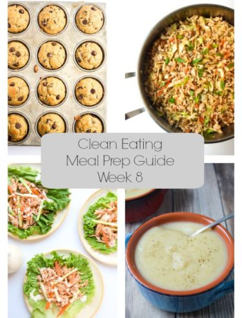 Clean Eating Meal Prep Guide (Week 8) - Weekly Meal Prep tips featuring clean, whole food recipes.  Always simple and always family friendly! | tastythin.com