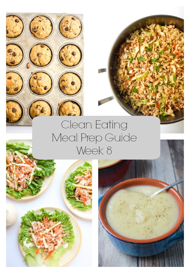 Clean Eating Meal Prep Guide (Week 8)- Weekly Meal Prep tips featuring clean, whole food recipes. Always simple and always family friendly! | tastythin.com