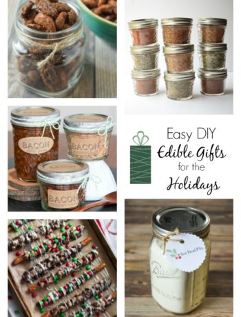 Easy DIY Edible Gifts for the Holidays - 10 super simple and heartfelt homemade gift ideas for this holiday season.