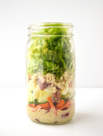 whole30 mason jar cobb salad