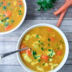 bowls of instant pot healing chicken soup