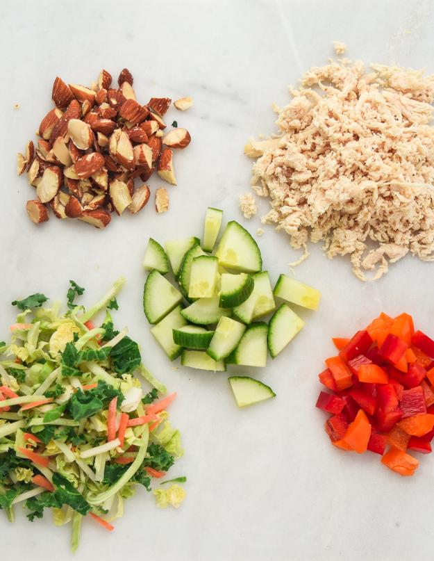 ingredienrs for Meal Prep Mason Jar Asian Salad