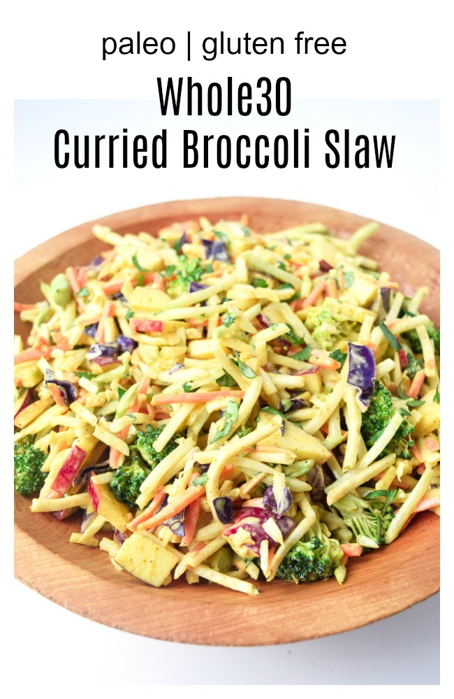 whole30 curried brocooli slaw