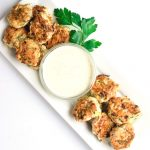 whole30 chicken zucchini poppers with ranch dipping sauce