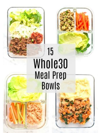 whole30 meal prep bowls