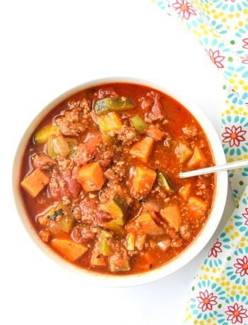 whole30 instant pot turkey chili with sweet potatoes