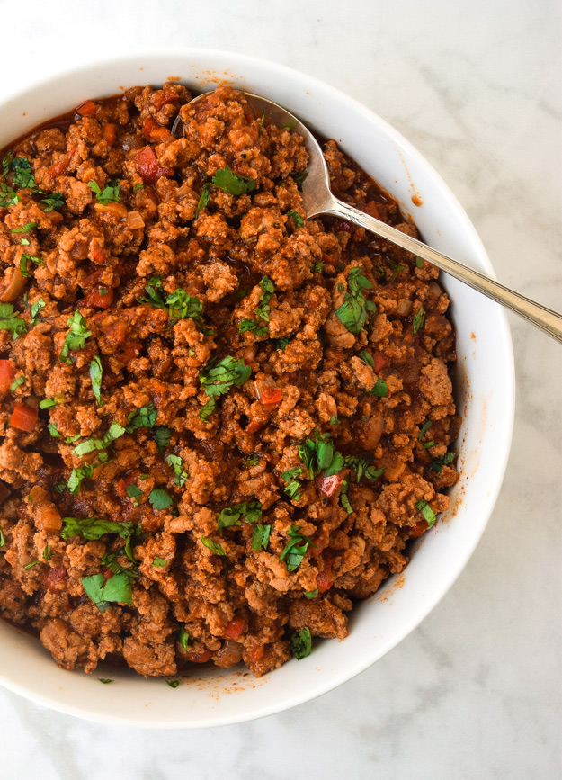 instant pot taco meat in bowl