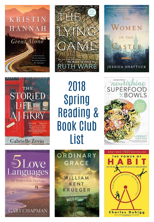 spring 2018 reading and book club list