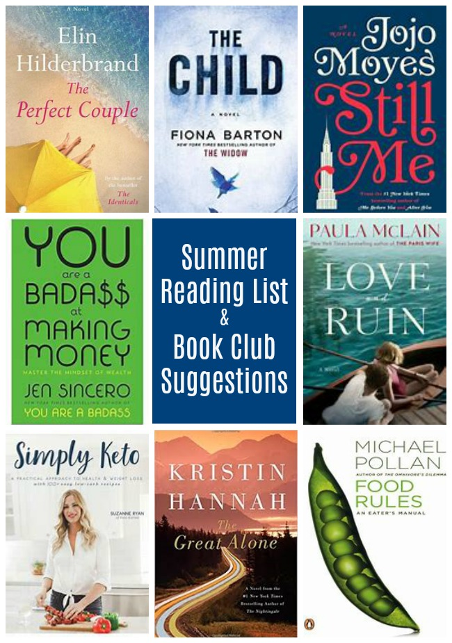 summer reading list and book club suggestions