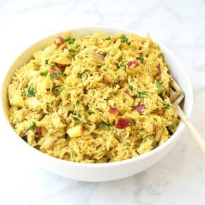 curried chicken salad with apples