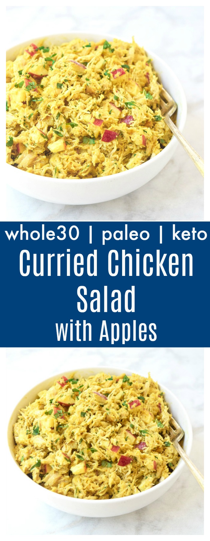 whole30 curried chicken salad with apples