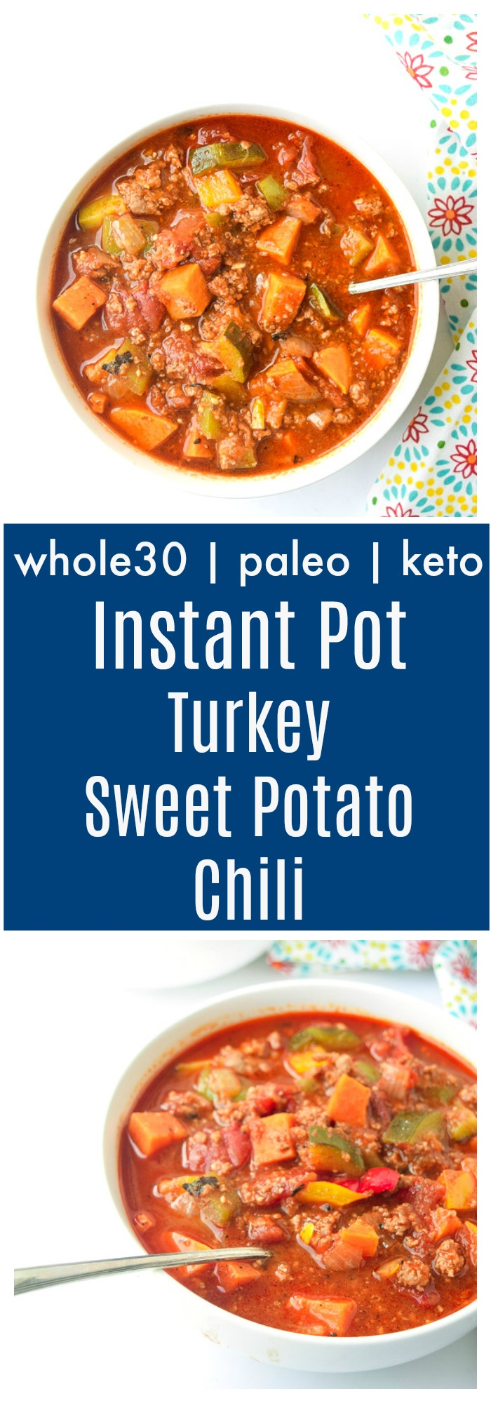 instant pot turkey sweet potato chili