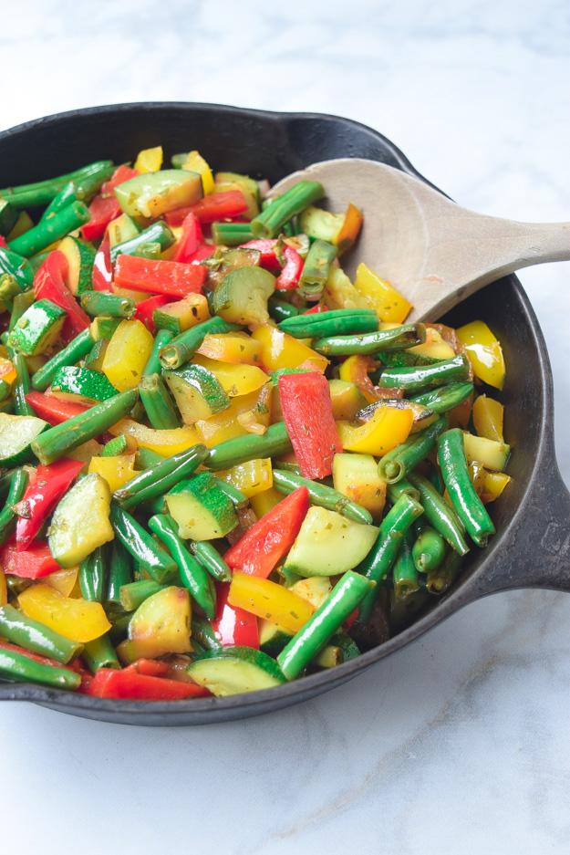 summer veggie skillet whole30 paleo