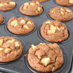 Grain Free Mini Apple Cinnamon Blender Muffins