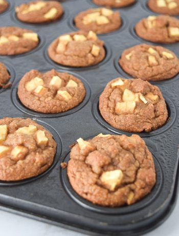 Grain Free Mini Apple Cinnamon Blender Muffins