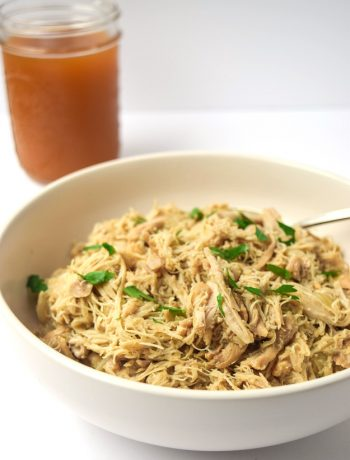 Apple Cider Pulled Chicken in the Instant Pot or Slow Cooker