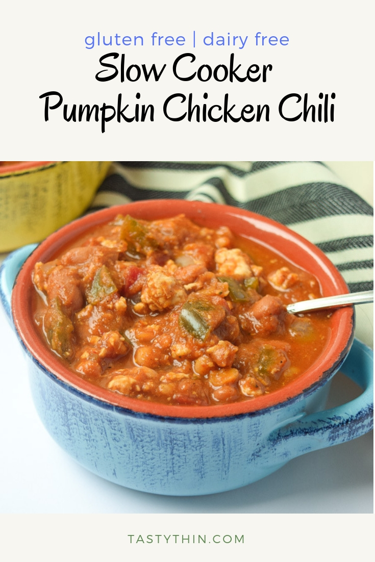 slow cooker pumpkin chicken chili