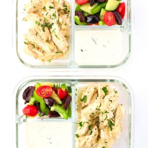 Meal Prep Instant Pot Greek Chicken Gyros