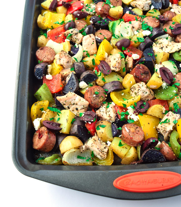 Sheet Pan MEditerranean Chicken and Veggies