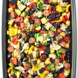 Sheet Pan Mediterranean Chicken and Veggies