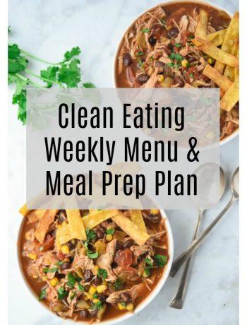 Clean Eating Menu and Meal Prep Plan