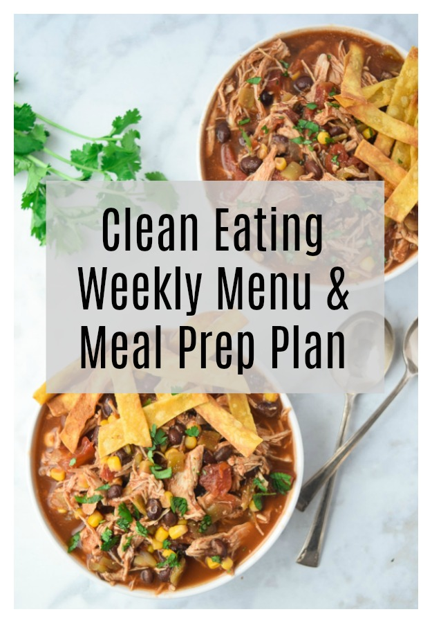 Clean Eating Menu and Meal Prep Plan