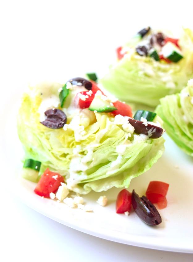 greek wedge salad tzatziki sauce