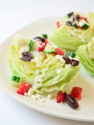 Greek Wedge Salad with Tzatziki Sauce
