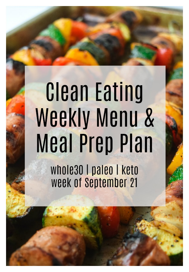 clean eating weekly menu