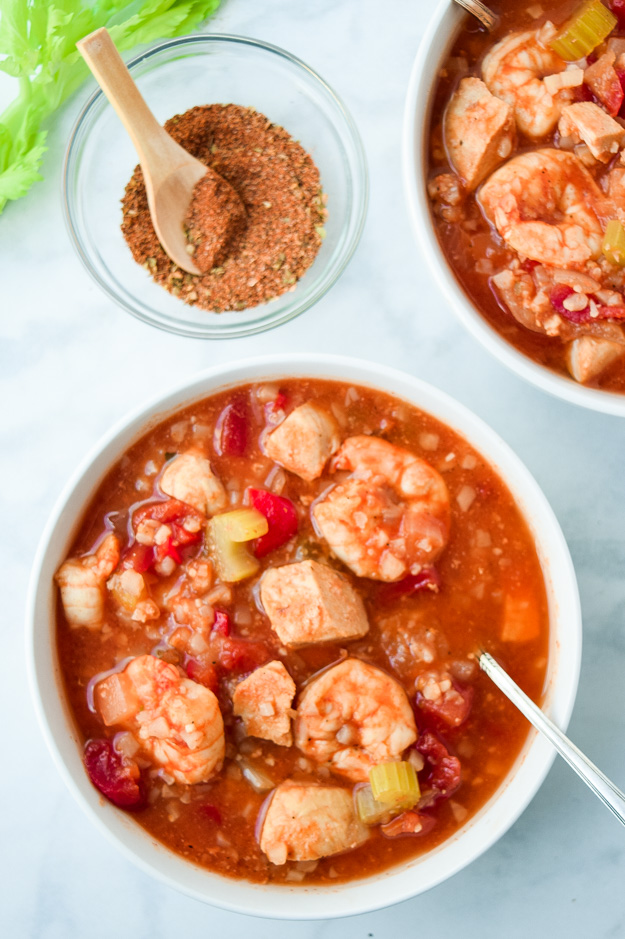 Instant Pot GUmbo with Shrimp and Chicken